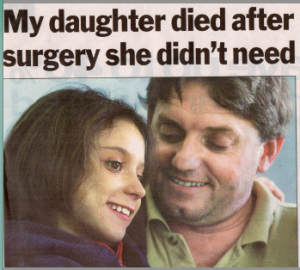 2003.12.16 My daughter died after surgery she didn't need | Ashleigh Mann | Westmead