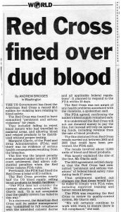2006.09.10 Red Cross fined over dud blood | USA