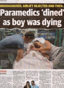 2016.05.03 Paramedics 'dined' as boy was dying | Shoalhaven | Kyran Day