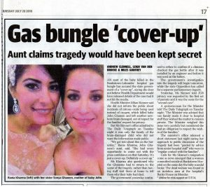 2016.07.28 Gas bungle cover-up - Aunt claims tragedy would have been kept secret | Bankstown-Lidcombe Hospital | Daily Telegraph