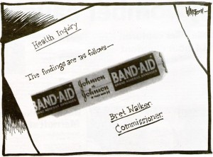 Health inquiry band-aid