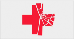 Red Cross fractured