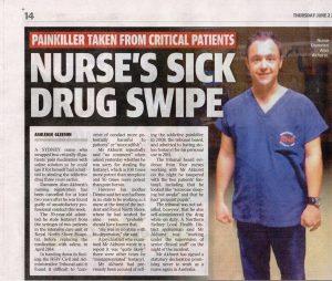 2016.06.02 Nurses's sick drug swipe | RN Dammen Alan AKHURST