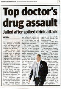 2016.08.27 Top doctor's drug assault | Dr John Kearsley | Daily Telegraph