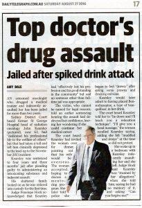 2016.08.27 Top doctor's drug assault   Dr John Kearsley   Daily Telegraph