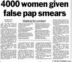 4,000 false paps