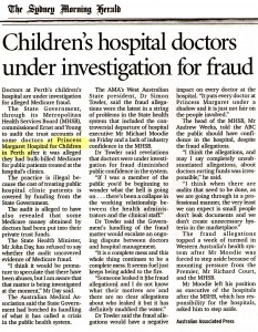 Children's hospital fraud