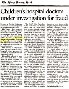 Children's hospital fraud
