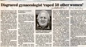 Disgraced gynae raped 50 women 755