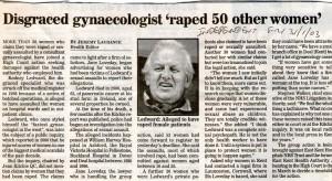 Disgraced gynae raped 50 women 755