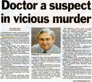 Doctor a suspect in vicious murder