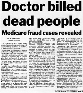 Doctor billed dead