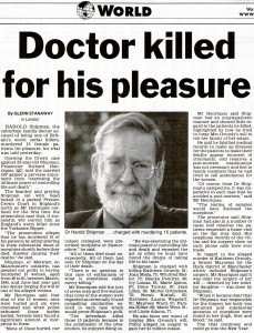 Doctor killed for pleasure