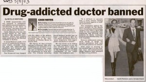 Drug-addicted doctor banned