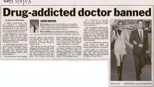 Drug-addicted doctor banned