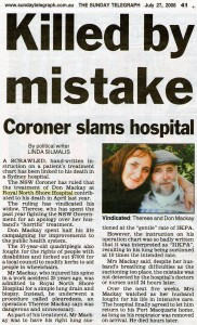 Killed by mistake - Coroner slams RNSH