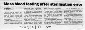Mass blood testing - Dr Lakhany 449