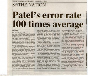 Patel error rate 708