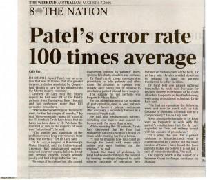 Patel error rate 708