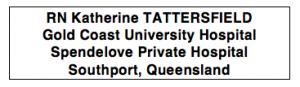 RN Katherine Tattersfield QLD
