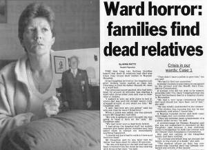 Ward horror dead relatives