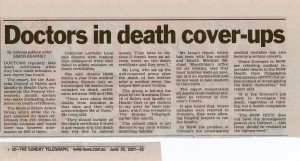 Doctors in death cover-ups