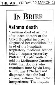 22.03.96 Asthma death
