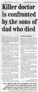 22.06.10 Killer doctor is confronted by sons of dad who died