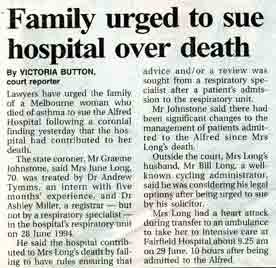 Family urged to sue over hospital death