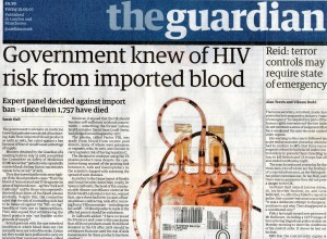 Govt knew of HIV risk