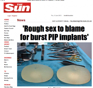 Rough sex to blame for burst PIP implants