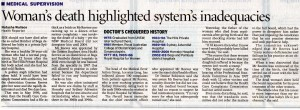 01.03.08 Woman's death highlighted system's inadequacies