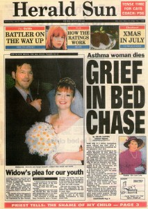 06.07.94 Herald Sun Grief in bed chase