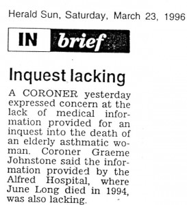 23.03.96 Inquest lacking