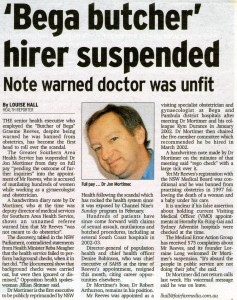 25.05.08 'Bega butcher' hirer suspended