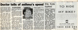 21.03.96 Doctor tells of asthma's speed
