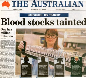 Blood stocks tainted