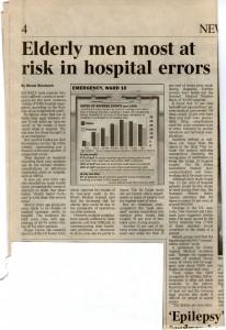 Elderly men most at risk in hospital errors