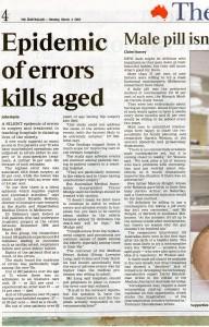 Epidemic of errors kills aged 028