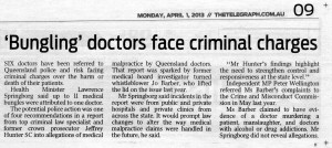 Bungling doctors face criminal charges