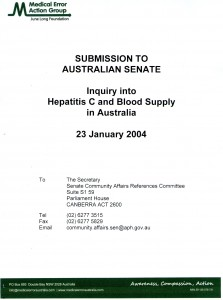 Senate Submission Tainted Blood 23.1.04