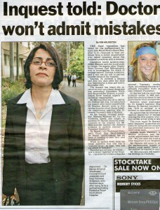 Inquest told doctor won't admit mistake