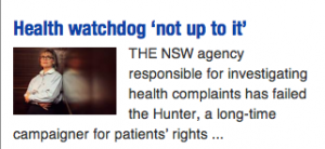 Health watchdog 'not up to it' 21.06.14