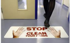 STOP CLEAN YOUR HANDS